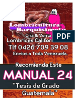LOMBRICULTURA VENEZUELA, Manual 24 Tesis de Grado Guatemala LOMBRICES CALIFORNIANAS