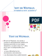 Test de Wepman Adulto