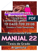 LOMBRICULTURA VENEZUELA Manual 22 Tesis de Grado Argentina, LOMBRICES CALIFORNIANAS