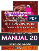 LOMBRICULTURA VENEZUELA, Manual 20 Tesis de Grado Peru LOMBRICES CALIFORNIANAS