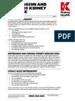 Depression and Chronic Kidney Disease Fact Sheet