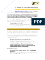 Consejos Para La Redacción Del Resumen y Las Palabras Clave