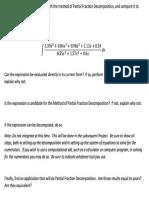 Calculus 2 Partial fraction decomposition