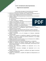 Cuestioario N° 1 Seminario sobre importaciones