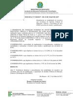 028 - Aprova Alteracao Da Resolucao 289 -Afastamento Para Estudos e Qualificacao