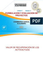 Semana 4.2 Formulacion y Evaluacion de Proyectos- Valor de Recuperacion de Activos Fijos
