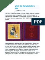 ESCAPULARIO DE BENDICIÓN Y PROTECCIÓN