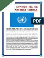 24 de Octubre Día de Las Naciones Unidas