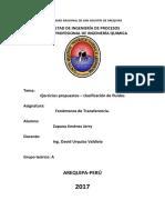 Ejercicios Propuestos – Clasificación de Fluidos - Zapana Jimenez Jerry