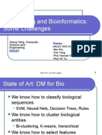 Data Minng and Bioinformatics