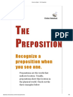 Grammar Bytes! __ the Preposition