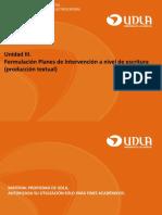 Intervención en Producción de Textos Escritos.