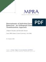 MPRA Paper 29722