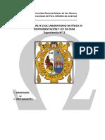 INFORME N°2 DE LABORATORIO DE FÍSICA III  Instrumentación y Ley de Ohm