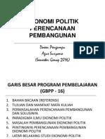 AgusSuryono EkonomiPolitikPerencPembangunan LB 2016