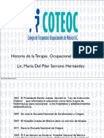 Historia Terapia Ocupacional Mexico
