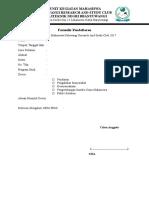Formulir Pendaftaran PRSC 2017