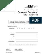 OET Reading Test 4 - Part B