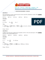 Matemática Básica - Exercícios Resolvidos - Escalas
