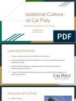 organizational culture at cal poly
