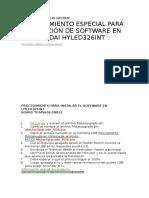 Instalación Especial de Software