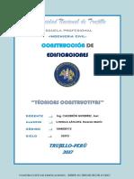 INFORME TÉCNICAS CONSTRUCTIVAS