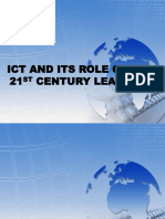 Ict and Its Role on the 21st Century