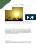 Consideraciones en Los Análisis PVT