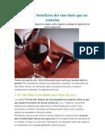 10 Grandes Beneficios Del Vino Tinto Que No Conocías