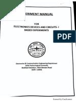 Analog-1 Lab Manual