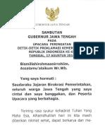 Sambutan Gubernur Jawa Tengah - Upacara Hut 69 Ri