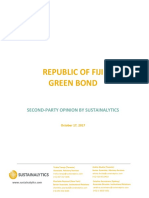 Republic of Fiji Green Bond - Second Party Opinion by Sustainalytics - Oct 2017