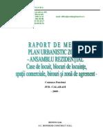 Raport de Mediu PUZ Comuna Fundeni