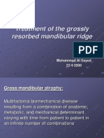 Treatment of the Grossly Resorbed Mandibular Ridge2