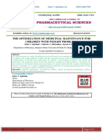 THE OPTIMIZATION OF MEDICINAL MAINTENANCE FOR CHILDREN WITH WEIGHT PROBLEMS