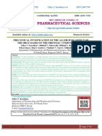 PRECLINICAL INVESTIGATION OF THE ALLERGENIC EFFECT OF THE DRUG BASED ON THE PHENOLIC COMPOUND KUD975