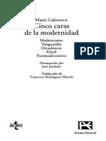 CALINESCU M. - Las Cinco Caras de La Modernidad Cap Vanguardia OCR