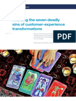 Avoiding the Seven Deadly Sins of Customer Experience Transformations