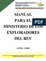 MANUAL Para El Ministerio de Los Exploradores Del Rey