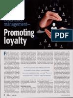 Promoting Loyalty