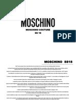moschino training book rtw main ss18