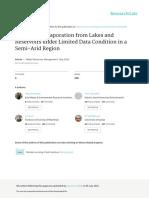 Estimating evaporation from Nile lake