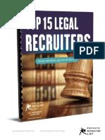 Top 15 Legal Recruiters
