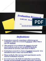Session 14 Slides Evaluation Research