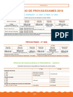 Asa - Calendário de Provas - Exames 2018