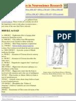 History of Neuroscience