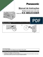 Manual de Instruções Panasonic KX-MB2030BRW