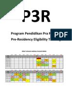 Jadwal Kuliah Silabus Program Pendidikan Pra Residen