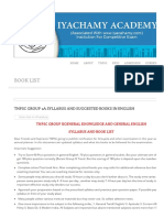 Tnpsc Group 2a Syllabus and Suggested Books in English _ Iyachamy Academy