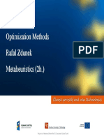 Optimization Methods Metaheuristics